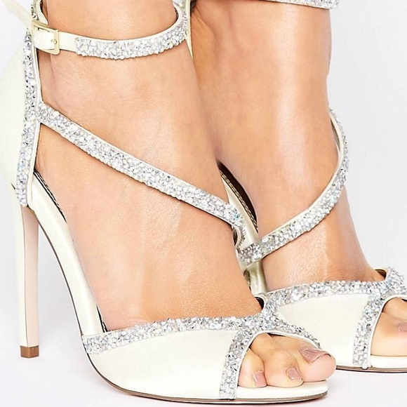 Asos Embellished Strappy Wedding Shoes